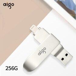 Aigo usb 3.0 256GB pamięć usb szybkie pióro napęd dla iphone metalowy klucz usb cle usb 360 ° obrotowy usb pendrive 3.0