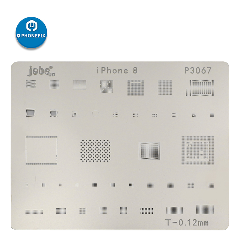 Phone Motherboard IC Chip Soldering Net Stainless Steel Plate For Iphone X 8 7 6S 6 Plus 5S 5 BGA Reballing Stencil Template