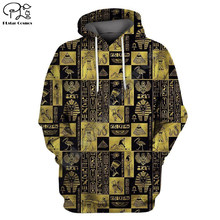 Egypt Pharaoh 3D Hoodies Sweatshirts Hoody Pullover Pyramids and Sphinx Autumn Tracksuit Men Women Hooded Tops Jumper Streetwear(China)