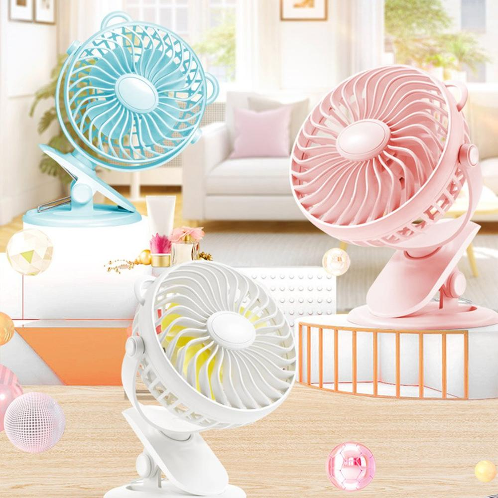 2020 New Mini Usb Rechargeable Air Cooling Fan Clip Desk Fan Dual Use Home Student Dormitory Bedside Portable Desktop Office Fan