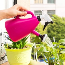 Practical  Household Dual-Purpose Watering Spraying Pot 1L Hand-Pressed Gardening Cans Adjustable Garden Supplies
