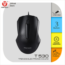 FANTECH T530 מחשב עכבר USB כבל עכברים 3 כפתור אופטי עכבר Ergonomico נוח מרגיש לשימוש יומיומי משרד עכבר wired