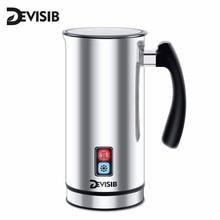 DEVISIB 自動ミルク泡立て器ステンレス鋼ミルク汽船電気カプチーノホット/コールドコーヒーce 1 年保証含む