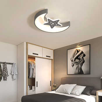 Modern LED Moon Star LED Ceiling Light Bedroom Panel Lamp Surface Mounted AC 110-220V Lamp Indoor Light Fixtures Remote Control