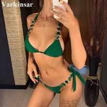 Brazilian Jewelled Rhinestones Diamond Bikini Women Swimwear Female Swimsuit Two-piece Bikini set Bather Bathing Suit Swim V2339