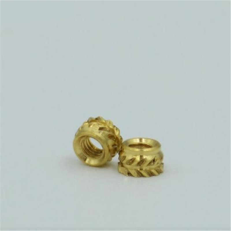 ITB-832/024/032 Brass Insert Nut knukles Nuts Insertos Knurling Copper Rivnut Threaded Rivet Ecrou Cejilla Inserti Tuerca Moeren