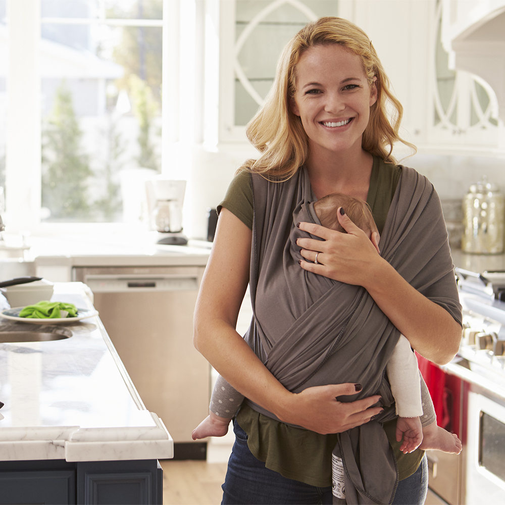 All-in-1 Stretchy Baby Wraps Baby Sling Infant Carrier Nursing Cover Hands Free Baby Wrap Postpartum Belt Great Baby Shower Gift