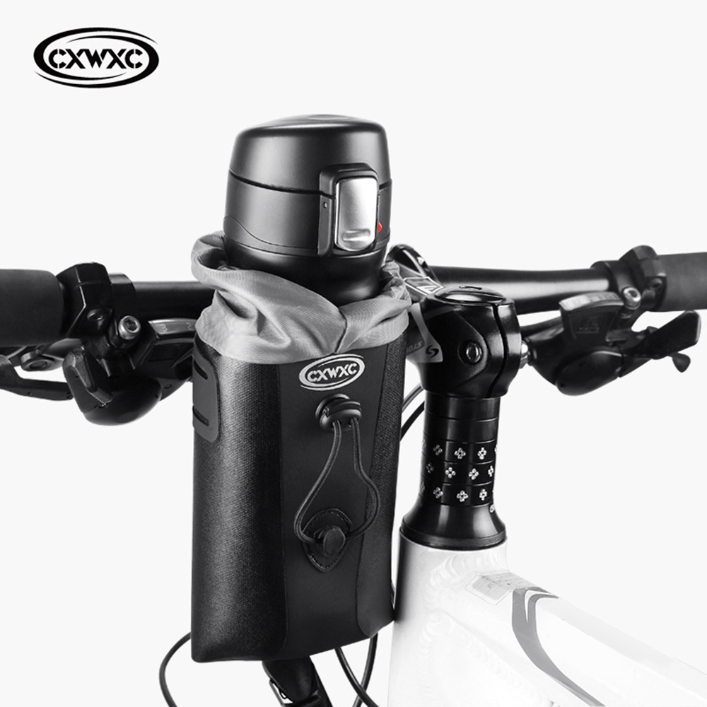 Bicycle Water Bottle Insulated Bag <font><b>Carrier</b></font> Pouch Portable Cycling Handlebar Kettle Bag <font><b>Bike</b></font> Handlebar Stem Bag <font><b>Bike</b></font> <font><b>Accessories</b></font> image