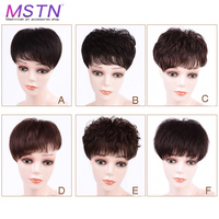 MSTN Women's Natural Human Hair Wig Can Cover White Hair and Make Younger Wig Hair Piece With Clips Hair Accessories