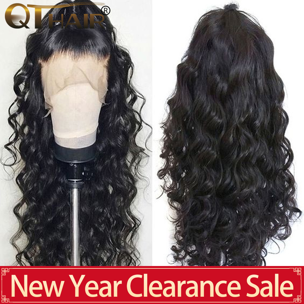 QT 180 Body Wave Lace Front Human Hair Wigs 360 Lace Frontal Wig Pre Plucked With Baby Hair Brazilian 13X6 Deep Part Remy Wig