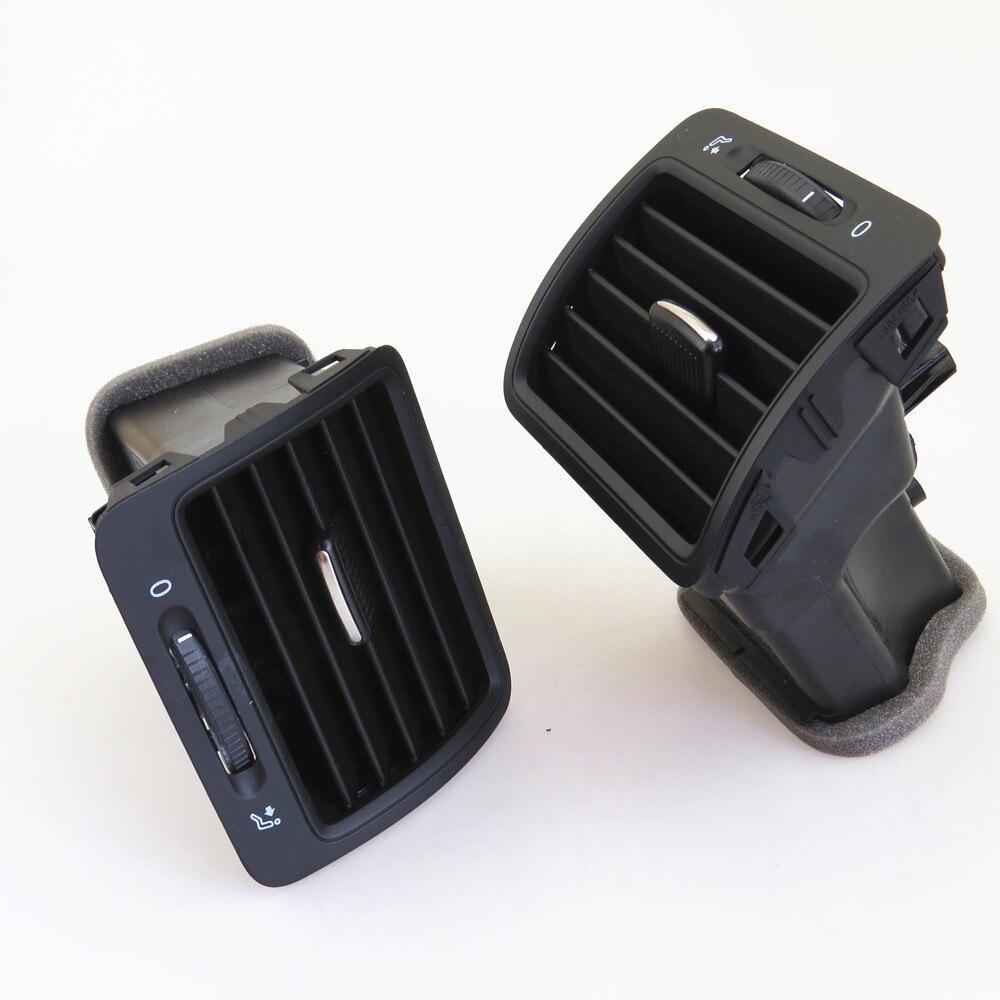 Fhawkeyeq centro do carro ar condicionado saída de ventilação bico conjunto para vw jetta mk5 golf mk5 coelho 1kd 819 728 1kd 819 203 1kd 819 704 - 5