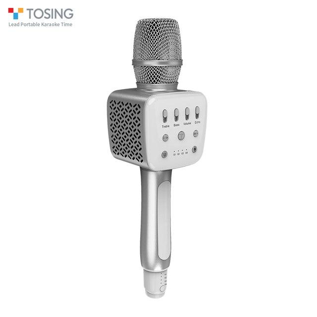 Tosing v2 novo produto versátil de alta qualidade sem fio karaoke aniversário alto falante portátil handheld microfone para cinema em casa ktv