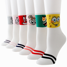 Women Socks Cartoon Cotton Harajuku happy funny Cute Unisex Skateboard Hipster Fashion Autumn Winter Print 3 pairs/lot #F