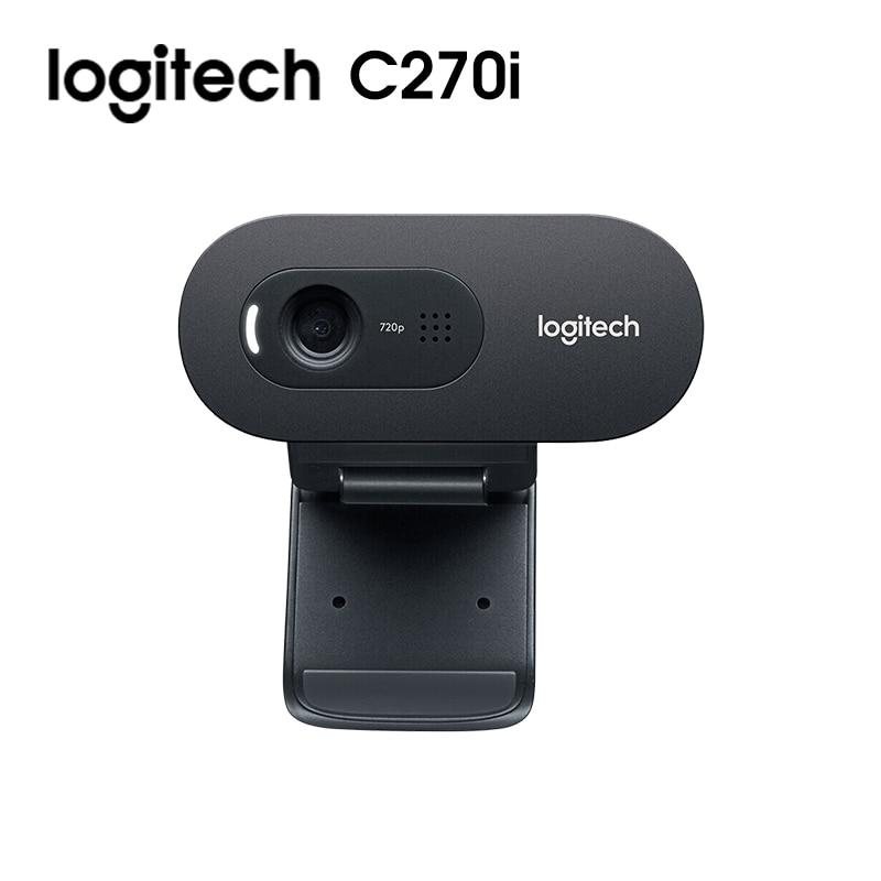 Original Logitech C270i C270 HD Webcam 720p HD Built-in Microphone Web Camera USB2.0 Free drive Webcam for PC Web Chat Camera 2