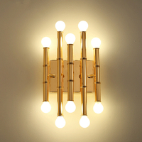American Modern Wall Lamp Led Gold Iron Wall Light For Living Room Bedroom Bedside Home Decor E14 Luminaire Bathroom Fixtures