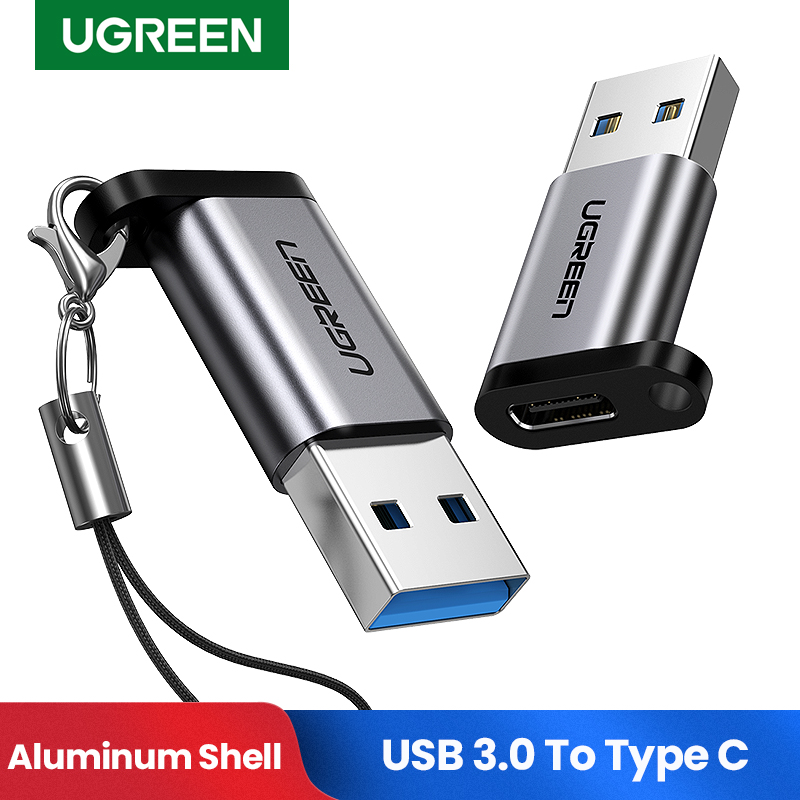 Ugreen USB C Adapter USB 3.0 2.0 Male To USB 3.1 Type C Female Type-C Adapter For Laptop Samsung Xiaomi 10 Earphone USB Adapter