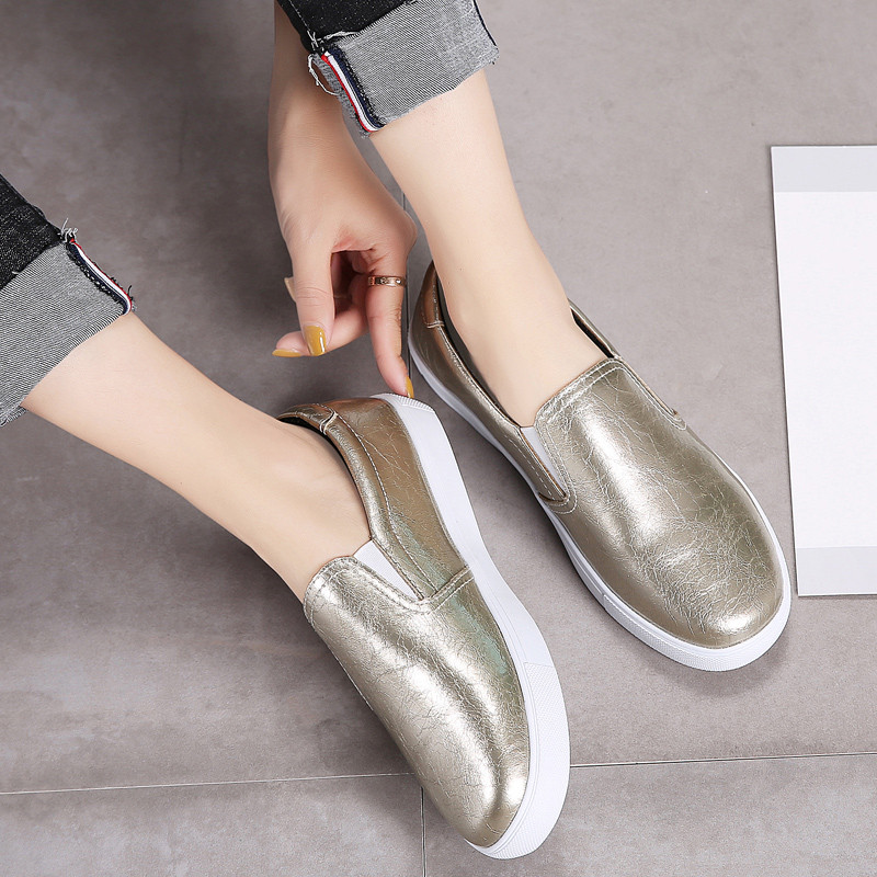 PINSEN New 2020 Autumn Loafers Women Flats Shoes Genuine Leather Casual Shoes Woman Slip-on Ballerina Flats Shoes Ladies Shoes 3