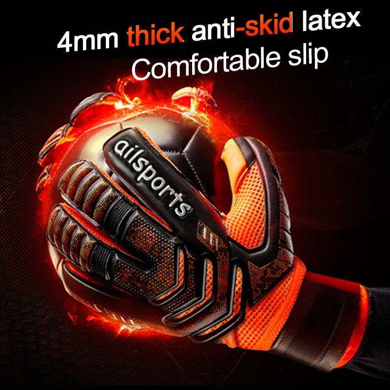Shinestone profissional goleiro luvas de proteção dedo engrossado látex futebol goleiro luvas de futebol