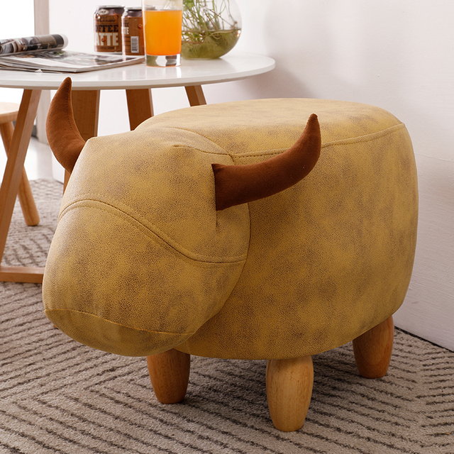 Fashion Creative Calf Animal Shoe Stand, Solid Wood Sofa Stand, Household Foot Stand, Low stool, Small Wood Stand 1