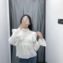 New Blusas Elegantes De Mujer 2019 Womens Tops and Blouses Shirt Long Sleeve O-neck Clothing Blusa Feminina