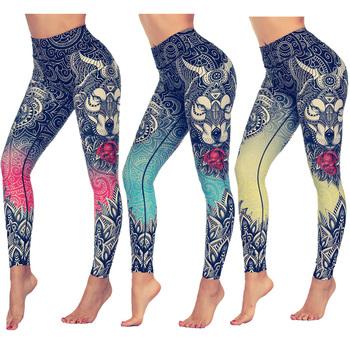 LI-FI oryginalny nadruk z wilkiem legginsy damskie spodnie jogi legginsy gimnastyczne odzież sportowa Fitness elastyczne obcisłe legginsy jogi tanie i dobre opinie CN (pochodzenie) Elastyczny pas spandex Elastan + Poliester WOMEN Pasuje prawda na wymiar weź swój normalny rozmiar Yoga