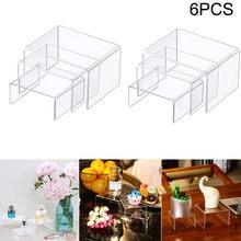 Três-camada de acrílico destacável escada quadro perfume jóias display rack transparente escada prateleira loja ferramentas # t2g