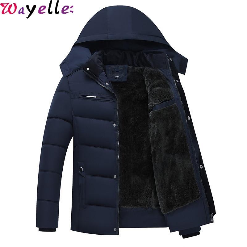 Fleece Thicken Warm Winter Jackets Men 2019 Minus 40 Degrees Cotton-Padded Jackets Men's Hooded Windbreaker Parkas XL-4XL