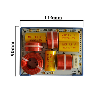 Image 2 - HIFIDIY LIVE AS 63C 2.5/3 Way 3 speaker Unit (Tweeter +mid bass +bass) HiFi Speakers audio  Frequency Divider Crossover Filters