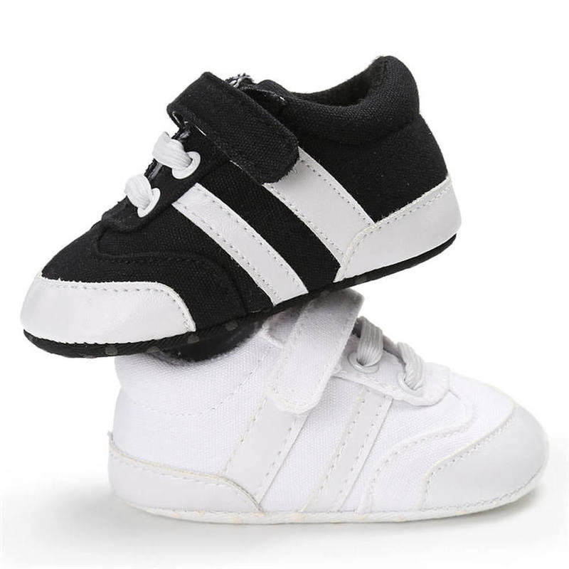 Baby Boy Shoes Canvas Classical Black White Casual Sneaker First Walkers Toddler Outdoor Infant Crib Shoes Unisex
