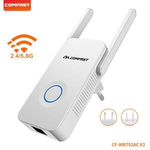Image 2 - COMFAST repetidor WIFI de alta velocidad de 1200Mbps, amplificador de señal WiFi de banda Dual de 2,4 y 5G, enrutador inalámbrico 802.11ac, CF WR752AC V2