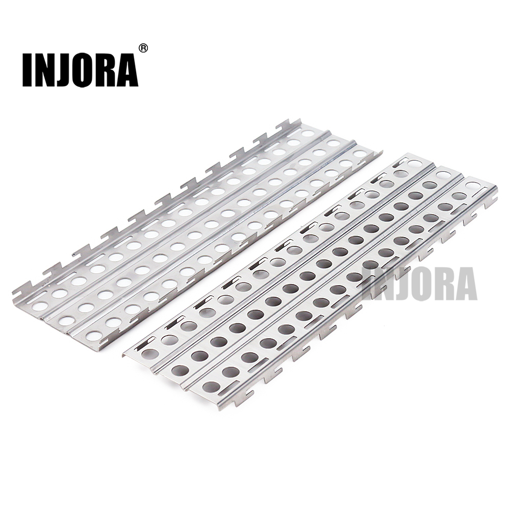INJORA 2PCS 144*40mm Metal Sand Ladder Recovery Board For 1:10 RC Crawler Traxxas TRX-4 Axial SCX10 Tamiya CC01 Recat MST