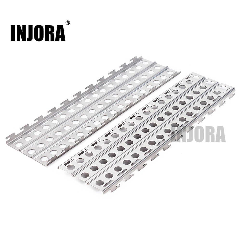 Tablero de recuperación de escalera de arena de Metal INJORA 2 piezas 144*40mm para 1:10 RC orugas Traxxas TRX-4 Axial SCX10 tamiya CC01 Recat MST