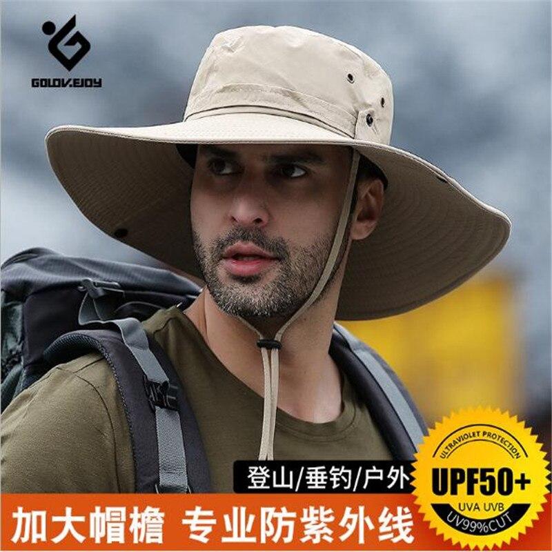 Sun Hat Golovejoy XMZ77 Summer Fisherman Cap Sports Hat Men Women Boonie Hat Uv-protection Outdoor Hiking Cap