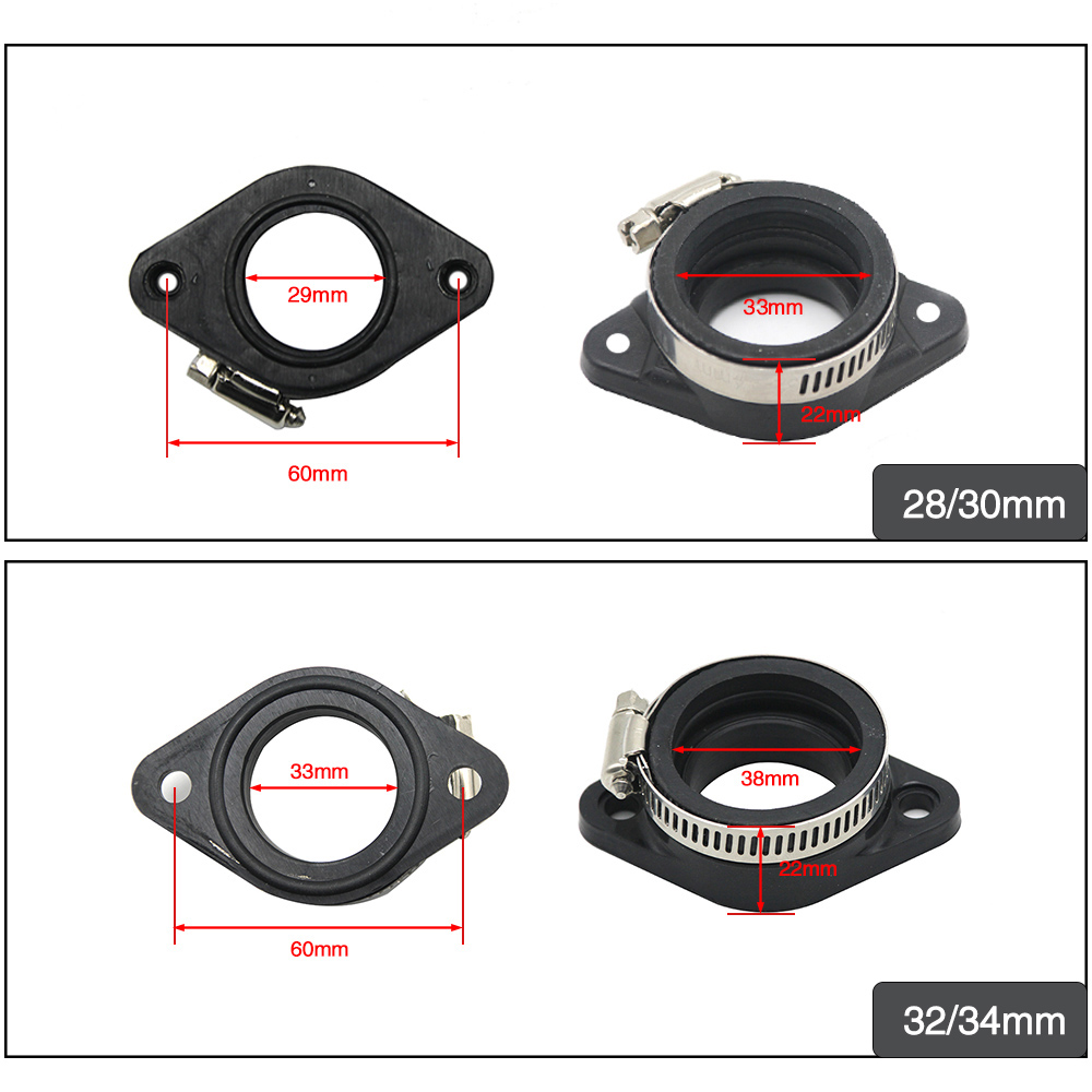 Image 2 - ZS Racing Motorcycle Carburetor Rubber Adapter Inlet Intake Pipe For MIKUNI VM24 OKO KOSO KEIHIN PE28 21/24/26/28/30/32/34mm-in Carburetor from Automobiles & Motorcycles