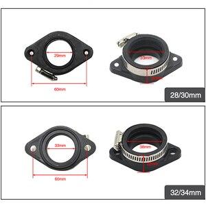 Image 2 - ZS Racing Motorcycle Carburetor Rubber Adapter Inlet Intake Pipe For MIKUNI VM24 OKO KOSO KEIHIN PE28 21/24/26/28/30/32/34mm