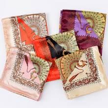 Женские зимние квадратные шарфы аксессуары для одежды с принтом