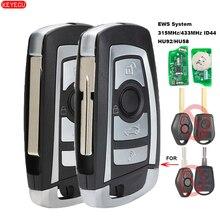 KEYECU EWS Geändert Flip Remote Key 4 Taste 315MHz/433MHz PCF7935AA ID44 Chip für BMW E38 E39 e46 M5 X3 X5 Z3 Z4 HU58 / HU92