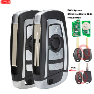 Image 1 - KEYECU EWS Modified Flip Remote Key 4 Button 315MHz/433MHz PCF7935AA ID44 Chip for BMW E38 E39 E46 M5 X3 X5 Z3 Z4 HU58 / HU92