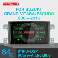 Marubox 8A905PX5 DSP, araba multimedya oynatıcı Suzuki Grand Vitara için, sekiz çekirdekli, Android 9.0, 4GB RAM, 64GB ROM, radyo TEF6686, GPS