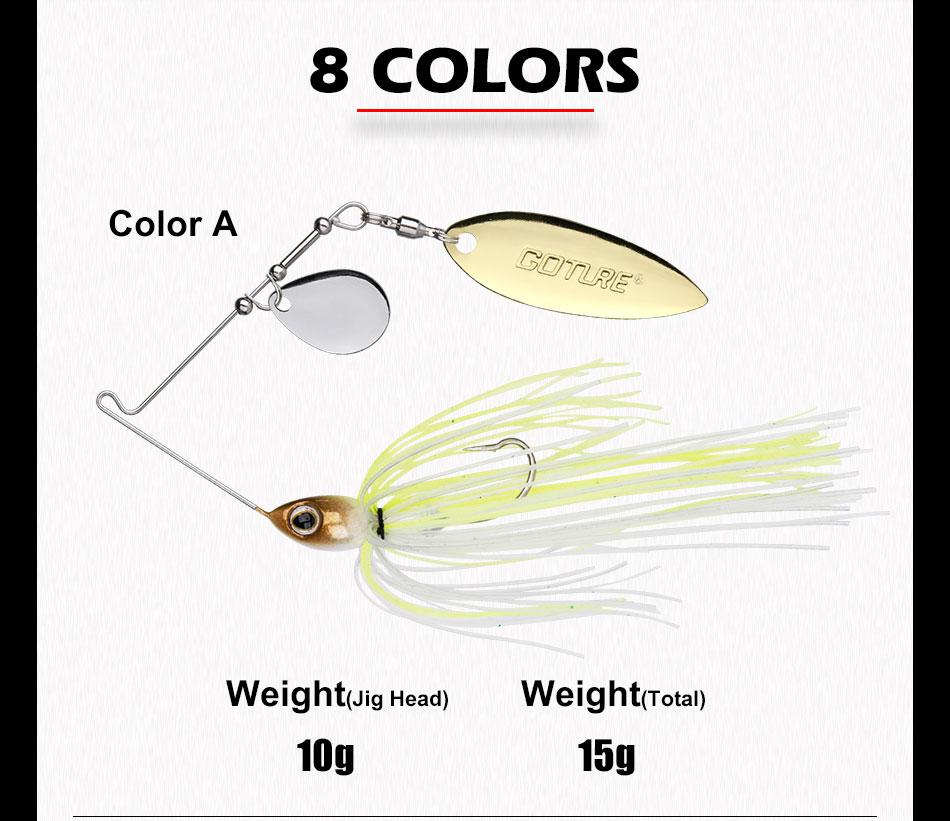 spinnerbait bait 10g 15g artificial bait jigging lure (7)