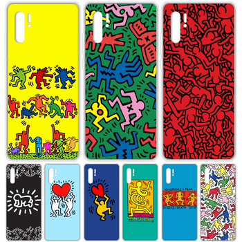 Keith Haring Pop Art Phone Case cover For HUAWEI p 8 9 10 20 30 40 P pro Smart 2017 2019 Z lite transparent hoesjes 3D prime image