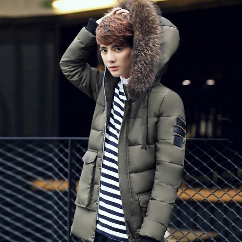 Новая мужская зимняя теплая непродуваемая куртка, зимняя длинная повседневная одежда, мужская Толстая куртка на молнии с капюшоном, новая м...