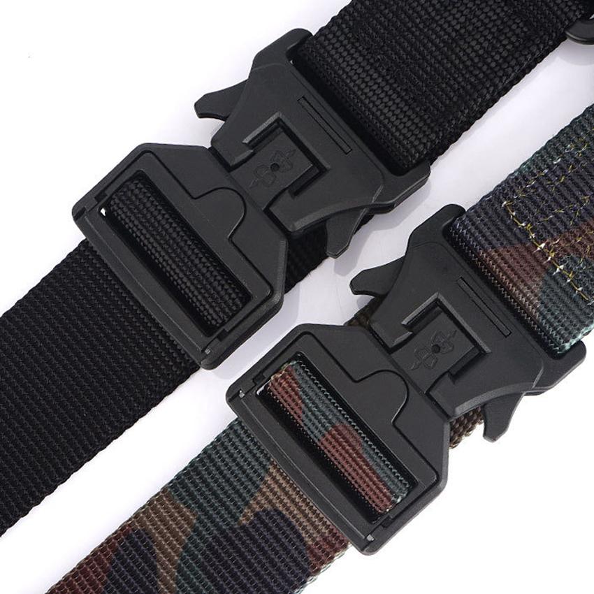 Men Belt Magnetic Buckle Velcro Belt Outdoor Tactical Belt For Jeans Pants High Quality Multifunctional Nylon Male Soldier Strap