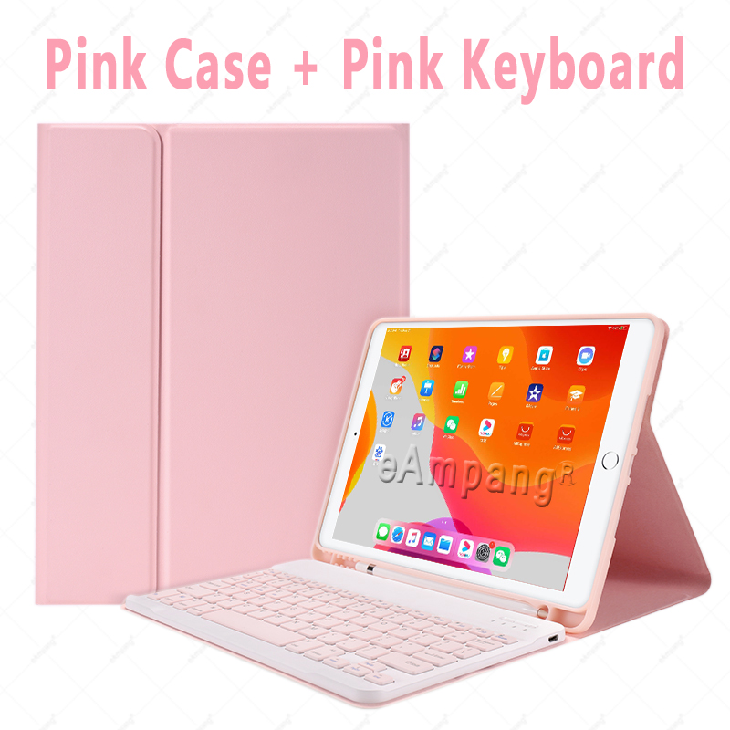 Pink no Mouse White Keyboard Case With Wireless Mouse For iPad Air 4 10 9 2020 4th Generation A2324 A2072