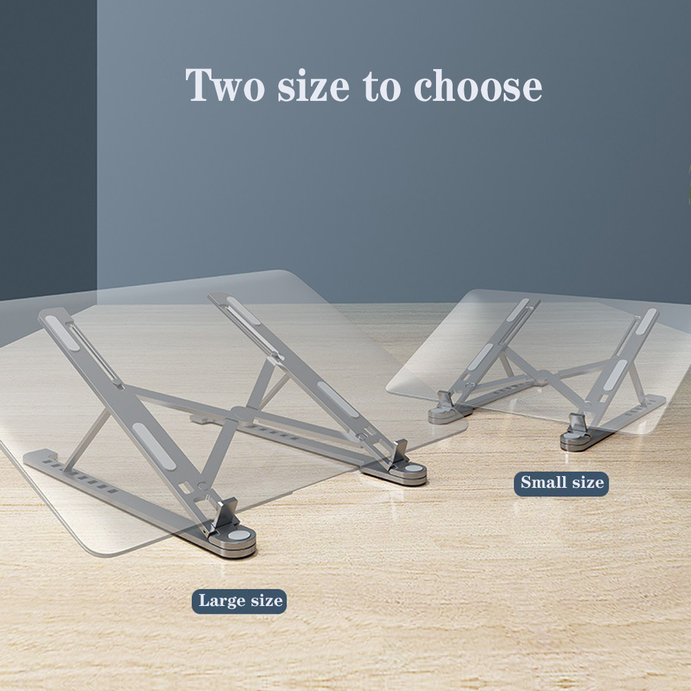 Aluminum Alloy Portable Laptop <font><b>Stand</b></font> Folding Heights Adjustable Non-slip Desktop Ventilated <font><b>Cooling</b></font> <font><b>Notebook</b></font> Holder image