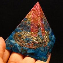 Orgonit piramidi şifa enerji Metatron orgon doğal kristal kaya kuvars Apatite taşlar değnek Reiki 7 çakra Yoga SPA takı