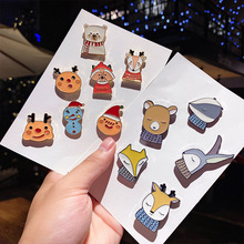 Cute Bear Snowman Fox Brooch Metal Badge Cute Pin Accessories Creative Coat Backpack Cartoon Unisex Badge Pins Gifts For Friend