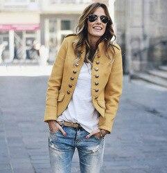 Jesień garnitur casual kurtki damskie z długim rękawem Slim krótki płaszcz dwurzędowy kobiet podstawowe małe garnitur brytyjski styl sweter topy 1