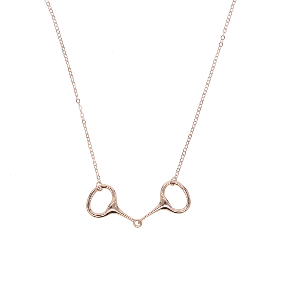 Gold Silver Y Human Shaped Pendant Wishbone Necklaces Women Men Zirocn Jewelry