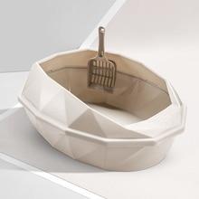 Bedpans Cat-Litter-Box Pet-Toilet Cleaning-Supplies Semi-Closed Anti-Splash Small Reusable